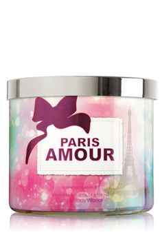 1 X Bath and Body Works Paris Amour 3 Wick Candle Cute Candles, 3 Wick Candles, Candle Lanterns, Scented Candles, Aroma Candles, Candels, Body Works, It Works, Candles By Victoria