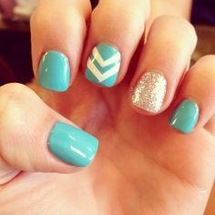 Chevron& glitter?! Too perfect.