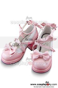Sweet Lolita Boots Shoes Pink 6.3cm High Heels