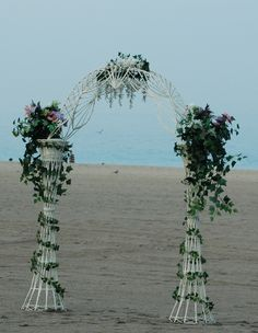 My wedding arch, it looks like wicker but made of fiberglass it can go anywhere. Budget Bride, Wedding Officiant, South Florida, Plant Hanger, Getting Married, Wedding Ceremony, Wicker, Arch, Party Ideas