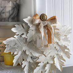 Book Page Leaf Craft - Autumn Decor