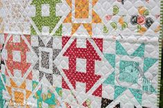 Dashing Quilt Kit by Coriander Quilts - Moda Prairie Fabric