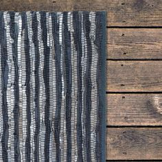 #recycled #leather #woven #rug