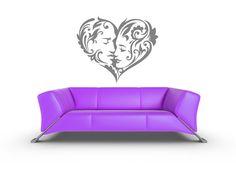 Heart, Man, Woman, Boyfriend, Girlfriend, Husband, Wife - Decal, Sticker, Vinyl, Holiday, Love, Bedroom Decor via Etsy