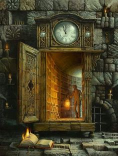 that is neat...a library inside a grandfather clock.