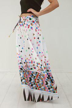 maxi skirt, geometric