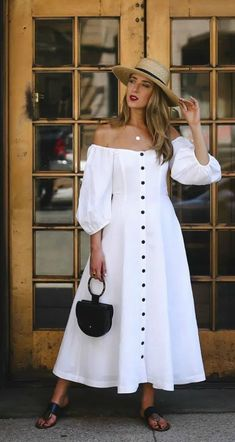 Summer Brunch Outfit, Summer Dress Outfits, Spring Outfits, Casual Dresses, Fashion Dresses, Elegant Summer Dresses, Brunch Dress, Spring Dresses, Modest Outfits