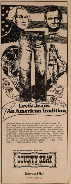 County Seat ad: Levi's Jeans - An American Tradition.