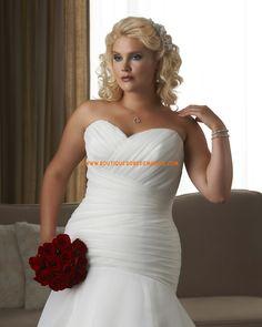 Robe de mariée grande taille sir7ne orgqnwq col coeur