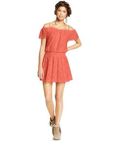 American Rag Lace Off-The-Shoulder Dress