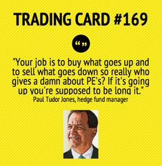Trading Card #169: Your Job As A Trader Is...