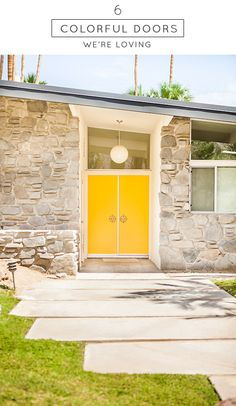 Colorful Doors We're Loving!