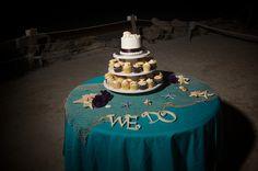 # purple beach wedding cake # beach cupcakes