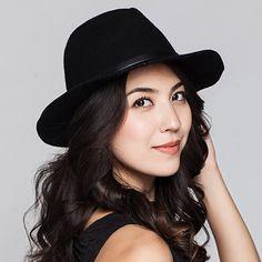 8365b70d544166 Fashion Rivet trilby fedora hat for women felt jazz hats autumn winter wear
