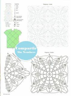 Mint Green Dress with Applique Pattern - Crochet Patterns