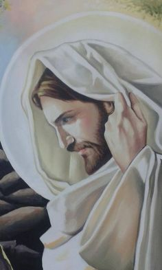 Paintings Of Christ, Jesus Painting, Pictures Of Jesus Christ, Jesus Christ Images, Jesus Tattoo, Christian Images, Christian Art, Croix Christ, Jesus Drawings