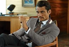 Marks & Spencer Fall/Winter 2014 Campaign-Model David Gandy heads to the city of San Francisco for the fall/winter 2014 campaign of British retailer Marks & David Gandy, Baie De San Francisco, Poses Modelo, The Fashionisto, Spencer, Dolce E Gabbana, Sharp Dressed Man, Famous Men, Fall Winter 2014