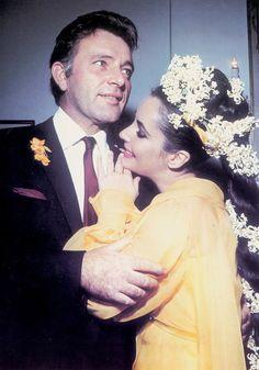 darlingohara: Richard Burton and Elizabeth Taylor on their wedding day