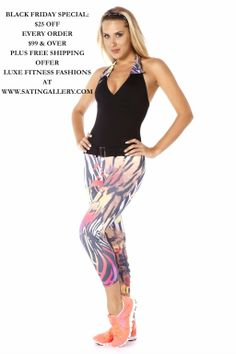 Sexy halter unitard now in stock: http://www.satingallery.com/gf01-0113-g-fit-halter-1-pc-set-capri-unitard/ Use coupon code BLACKFRI for $25 off all orders $99 or over! Plus free shipping offer! #fitnesswear #fitnessunitard #sexyfitness