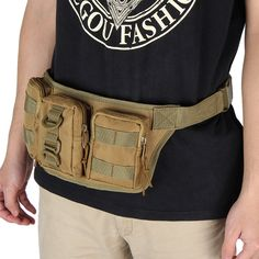 Outdoor Camping Hiking Waist Bag Military Tactical Trekking Waist Pack Bag Camo Pouch