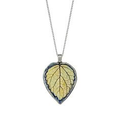 Look what I found at UncommonGoods: Lemon Balm Leaf Impression Pendant for $35 #uncommongoods