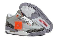 low priced 10055 17664 Authentic Cheap Air Jordan 3 Original jordan retro 3 iii shoe grey red shoe  for sale