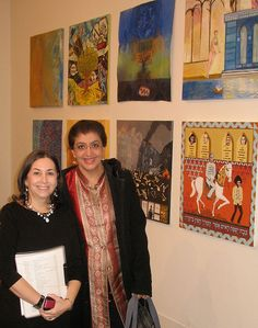 Wendi Furman, Siona Benjamin at the Dura Europos Project by Jewish Art Salon, via Flickr