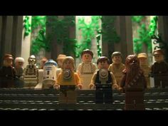 The Star Wars trilogy in 60 seconds with LEGO figures.