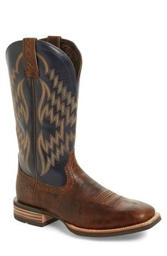 ARIAT 'Tycoon' Nine-Row Stitch Cowboy Boot (Men). #ariat #shoes #boots