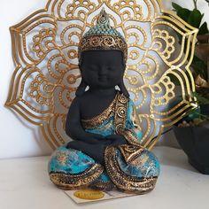 Buddha Gifts, Tiffany, Little Buddha, Buddha Statues, Antiques, Cute, Baby, Plaster Art, Painting Art