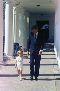 ST-C333-4-63. President John F. Kennedy with John F. Kennedy, Jr. - John F. Kennedy Presidential Library & Museum