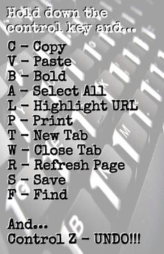 Keyboard shortcuts for the computer 💻 For Windows, Chrome, Firefox. Check Alice's site for Mac keyboard shortcuts. Simple Life Hacks, Useful Life Hacks, 1000 Life Hacks, Schul Survival Kits, Computer Shortcut Keys, Computer Help, Computer Tips, Computer Keyboard, Keyboard Symbols