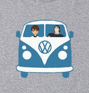 VW Kombi Van Ben10 Kevin Kids Youth Boys GREY T-Shirt All Sizes New