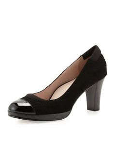 Tabea Suede Platform Pump, Black by Taryn Rose at Neiman Marcus Last Call.