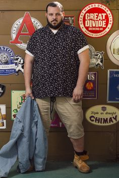 Big men fashion · actor daniel franzese talks about being a big man in hollywood, becoming an activist, Chubby Men Fashion, Large Men Fashion, Cheap Mens Fashion, Mens Fashion Suits, Look Fashion, Plus Size Fashion, Womens Fashion, Plus Size Men, Looks Plus Size
