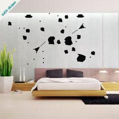 Asteroids Vinyl Wall Sticker: Amazon.co.uk: Kitchen & Home