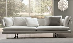 Sleek White Sofa By Misuraemme At Divine Design Center In Boston