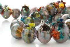 Nirit Dekel Glass Necklace and Bracelet Blue Gallery