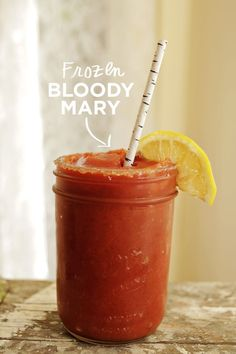 Break out your blender for frozen Bloody Marys. | 33 Next-Level Tips For A Bloody Mary Bar