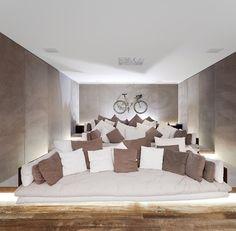 casa grecia home theater, sao paulo/isay weinfeld  via: knstrct