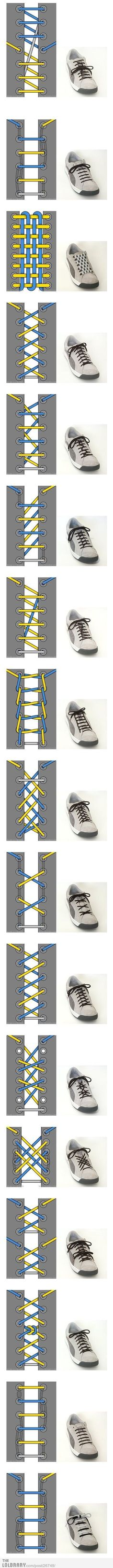 Interesting Shoelace Designs | LOLBRARY.COM