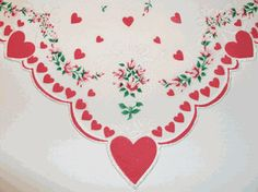 Fancy Valentine Vintage Style Cotton Hankie