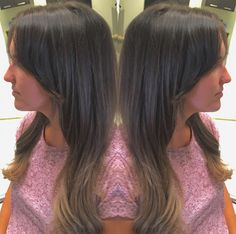 Long bangs on long hair with long layers with a subtle blonde ombré done for a client. 70's inspiration. #sexy #70s #fringe #longhair #longhairdontcare #ombre #longlayers #bangs #longbangs #fashion #womenslonghair #style #beauty #blonde #retro #everydaywear