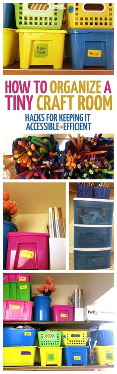 Small craft room organization ideas on a budget - check out how I turned a closet craft area into an efficient workspace on the cheap with cool hacks, tips, and storage ideas!