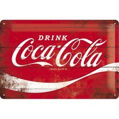 Gebold Coca-Cola Wave reclame bord | 20 x 30 cmTijdloos van vorm en ontwerp is dit tin gebold bord een geweldige aanwinst voor iedere leefruimte.Het bord heeft vier gaatjes op de hoeken om eenvoudige te bevestiging op een muur. Of heel leuk om ergens neer te zetten.