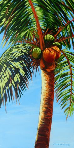 Hot Palm Bryan Coombes 36x48 Acrylic