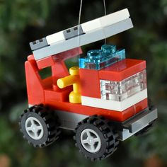 LEGO® Personalized Mini Fire Truck Christmas by ornaments4charity