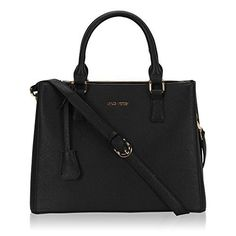 A simple and classic shoulder tote bag silhouette from Hynes Victory that's packed with the organization features you know and love. Designed with ample pockets both inside and out, this structured synthetic leather top zip tote hits the sweet spot between style, security and storage.