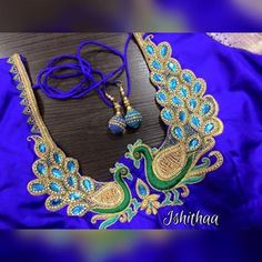 55 Latest Maggam Work Blouse Designs that will inspire you - Wedandbeyond Blouse Back Neck Designs, Blouse Designs Silk, Saree Blouse Patterns, Bridal Blouse Designs, Peacock Blouse Designs, Dress Designs, Latest Maggam Work Blouses, Maggam Work Designs, Bollywood