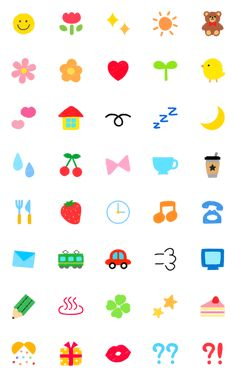 These emoji are here to make your messages cuter than ever. Kawaii Girl Drawings, Emoji Drawings, Cute Small Drawings, Easy Drawings, Bullet Journal Banner, Bullet Journal Ideas Pages, Little Doodles, Cute Doodles, Mini Tattoos